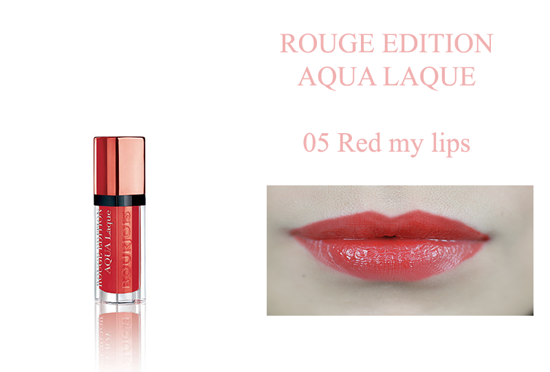 Bourjois Rouge Edition Aqua Laque 05 red my lips