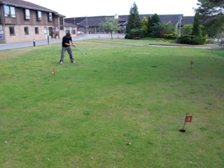 Mini Golf grass Putting at Bainland Country Park in Woodhall Spa
