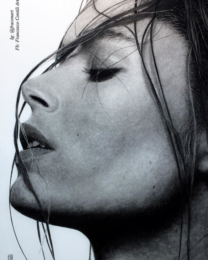 11-Doutzen-Kroes-Francesco-Contili-Realistic-Graphite-and-Charcoal-Portrait-Drawings-www-designstack-co