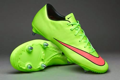 promo code b30b8 dc165 2014 Nike Mercurial Victory V SG with Green Color