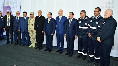 Egyptian President, Abdel Fattah El Sisi, inaugurates the field of natural gas