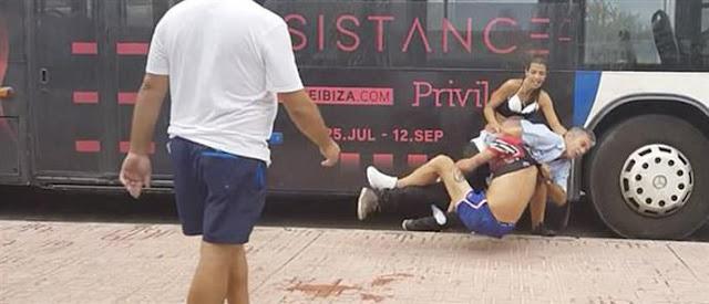 ΞΥΛΟ στην Ισπανία: Ζευγάρι τσακώθηκε με οδηγό λεωφορείου και του έβγαλαν και το παντελόνι! (ΦΩΤΟ&ΒΙΝΤΕΟ