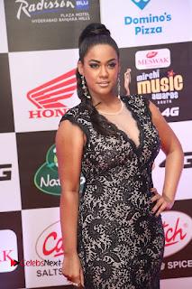 Actress Mumaith Khan Pictures in Black Dress at Mirchi Music Awards South 2015  0086.JPG