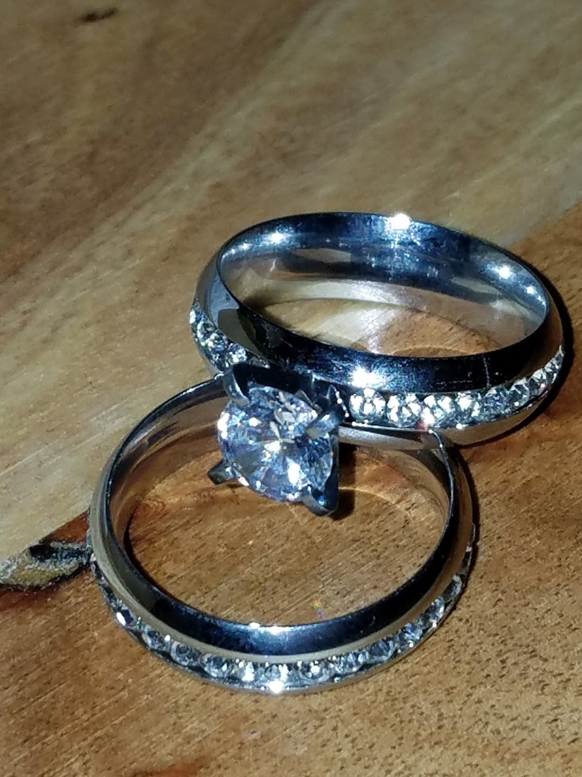 Let Me Review That For You Cubic Zirconia Stainless Steel Bridal
