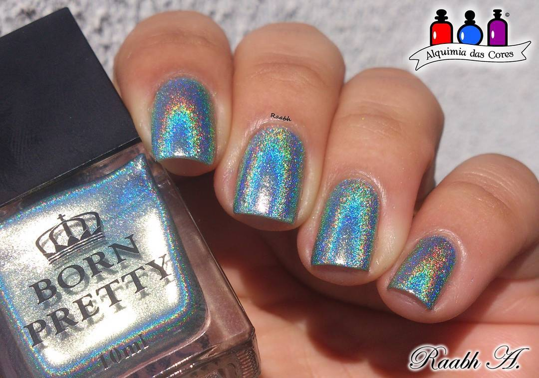 Born pretty store blog holographic nail polish design and the first nail art design pictures have been shown here they are used with one kind of holo polish 35875 can you believe that prinsesfo Gallery