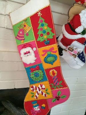 vintage felt stocking