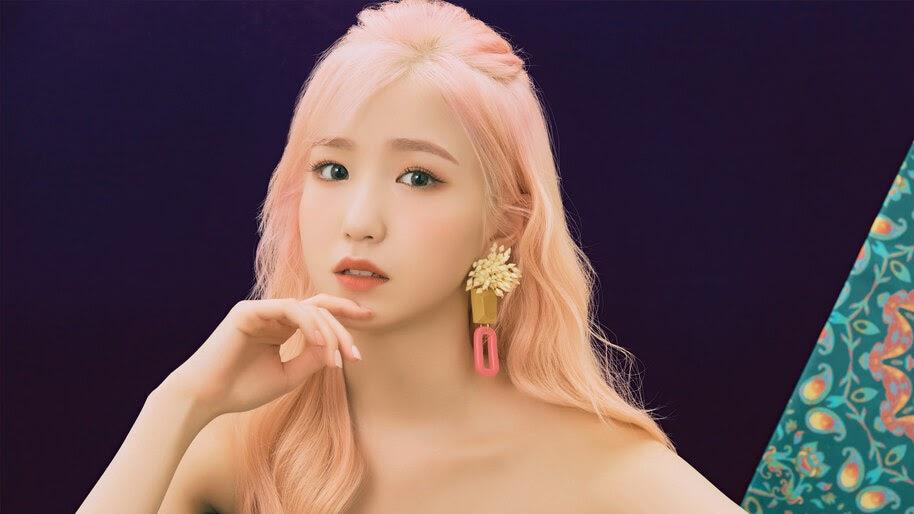 Hitomi, Beautiful, Pink Hair, IZ*ONE, Bloom*Iz, 4K, #6.637