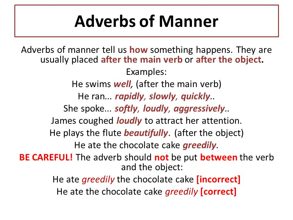 Talk In English And Have Fun Adverbs Of Manner