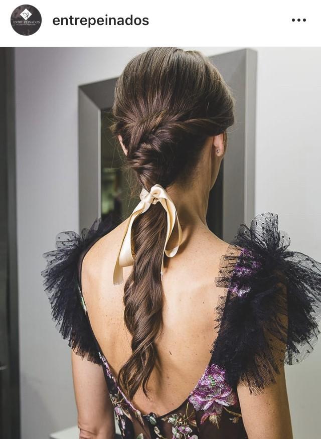 peinados con lazos
