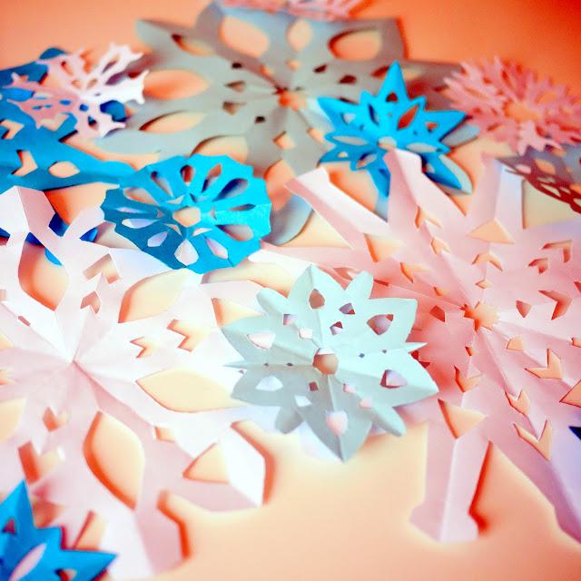 Copos de nieve para fiesta de Frozen
