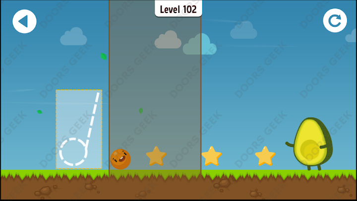 Where's My Avocado? Level 102 Solution, Cheats, Walkthrough, 3 Stars for Android, iPhone, iPad and iPod