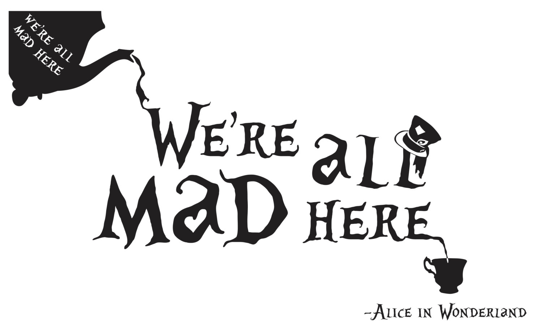 Natasha Scrapbookorner Alice In Wonderland Jumbo Tag