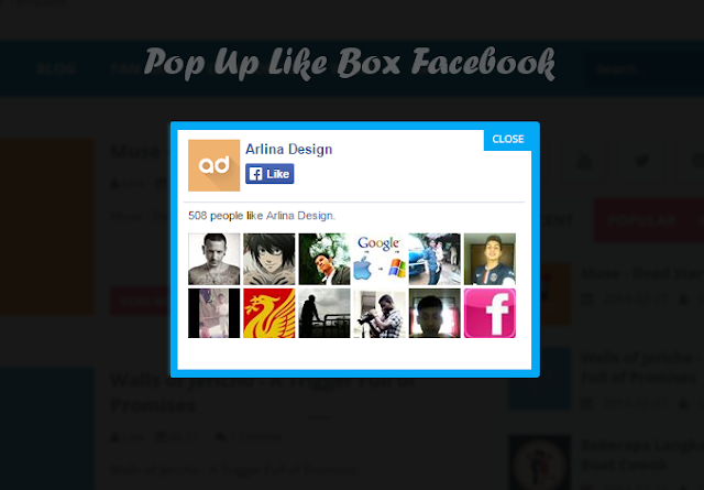How to Add Pop Up Like Boxes Facebook