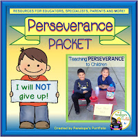 A perseverance packet including worksheets, printables, posters, and activities