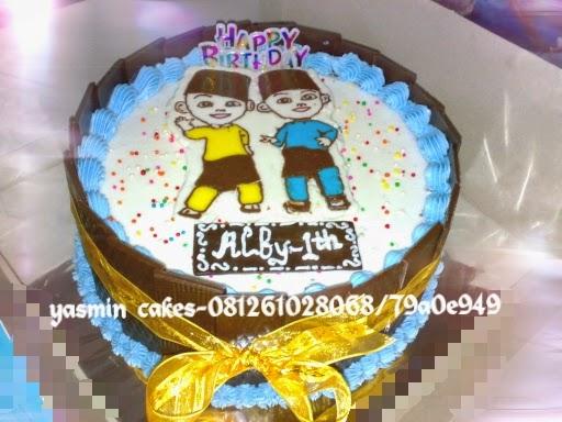 Cake Upin Dan Ipin