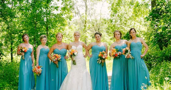 Bright Coloured Bridesmaid Dresses: Real Wedding: Bright And Bold With Turquoise And Orange