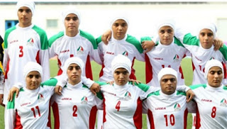 8 Men in Iran Female Soccer Team