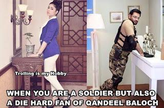 Fan of the Qandeel baloch - funny pic