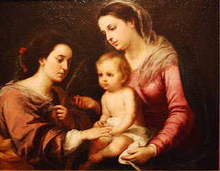 Esteban Murillo – le mariage mystique de Sainte Catherine – 1682