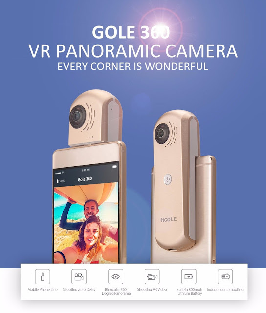 【HIGOLE GOLE360】99ドルで手軽に360°パノラマ撮影、すぐにシェア。スマホとの接続にも対応したHIGOLE GOLE360が気になります。