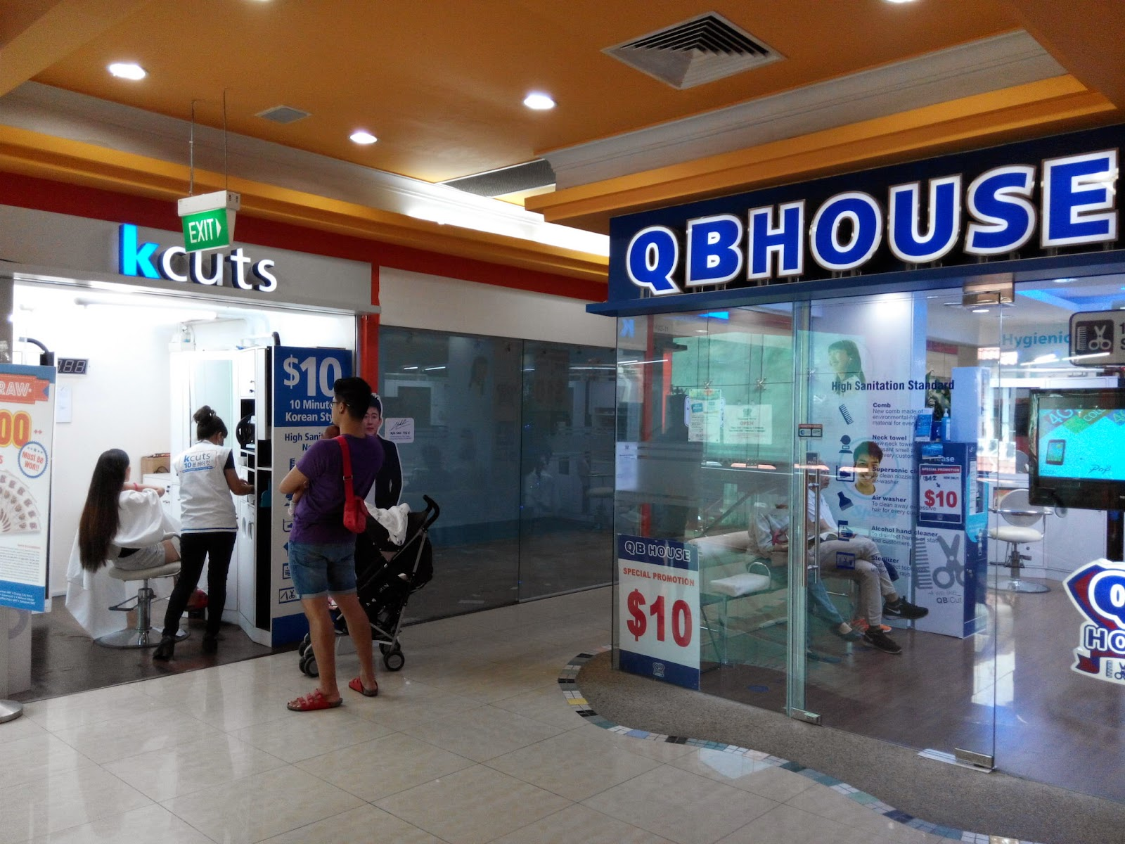 kcuts and QM House barbershops, Holland Village outlet, Singapore