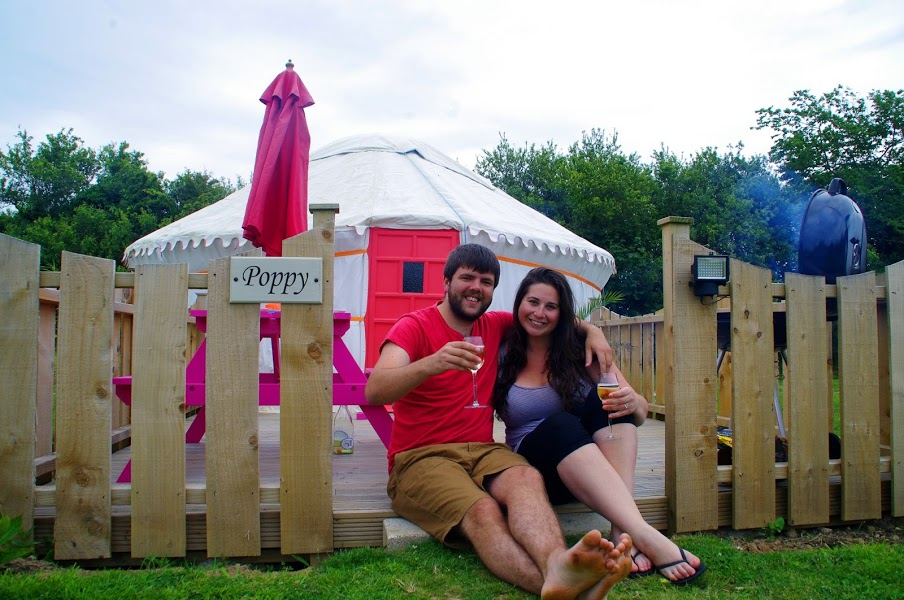 Poppy Yurt Glamping Cornwall