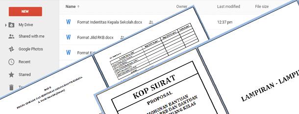 Contoh Proposal Pengajuan RKB Sekolah dan Bantuan Rehabilitasi Ruang Kelas Download dalam Format File Microsoft Word
