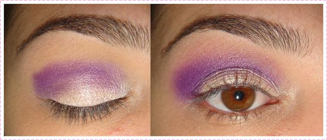 Tutorial maquiagem roxa