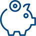icon for a piggy bank