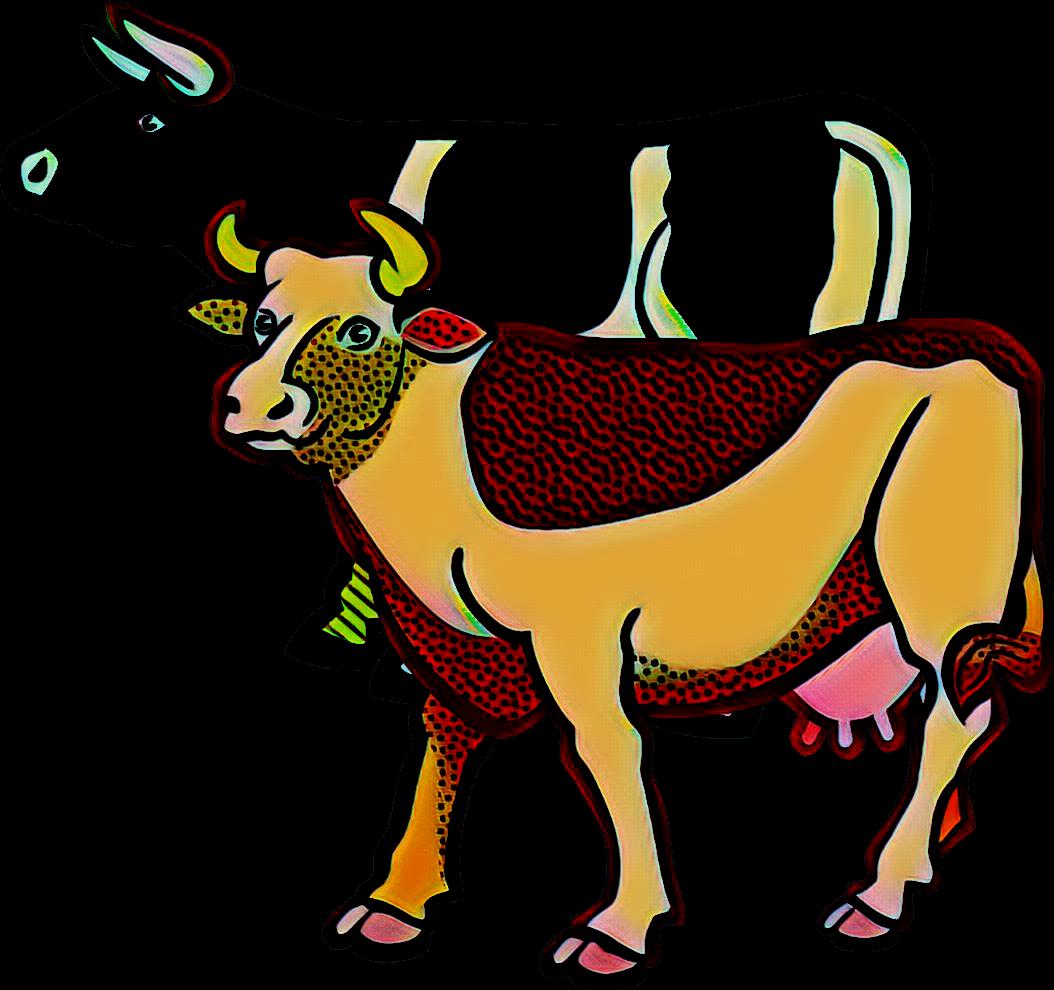 render vaca y toro