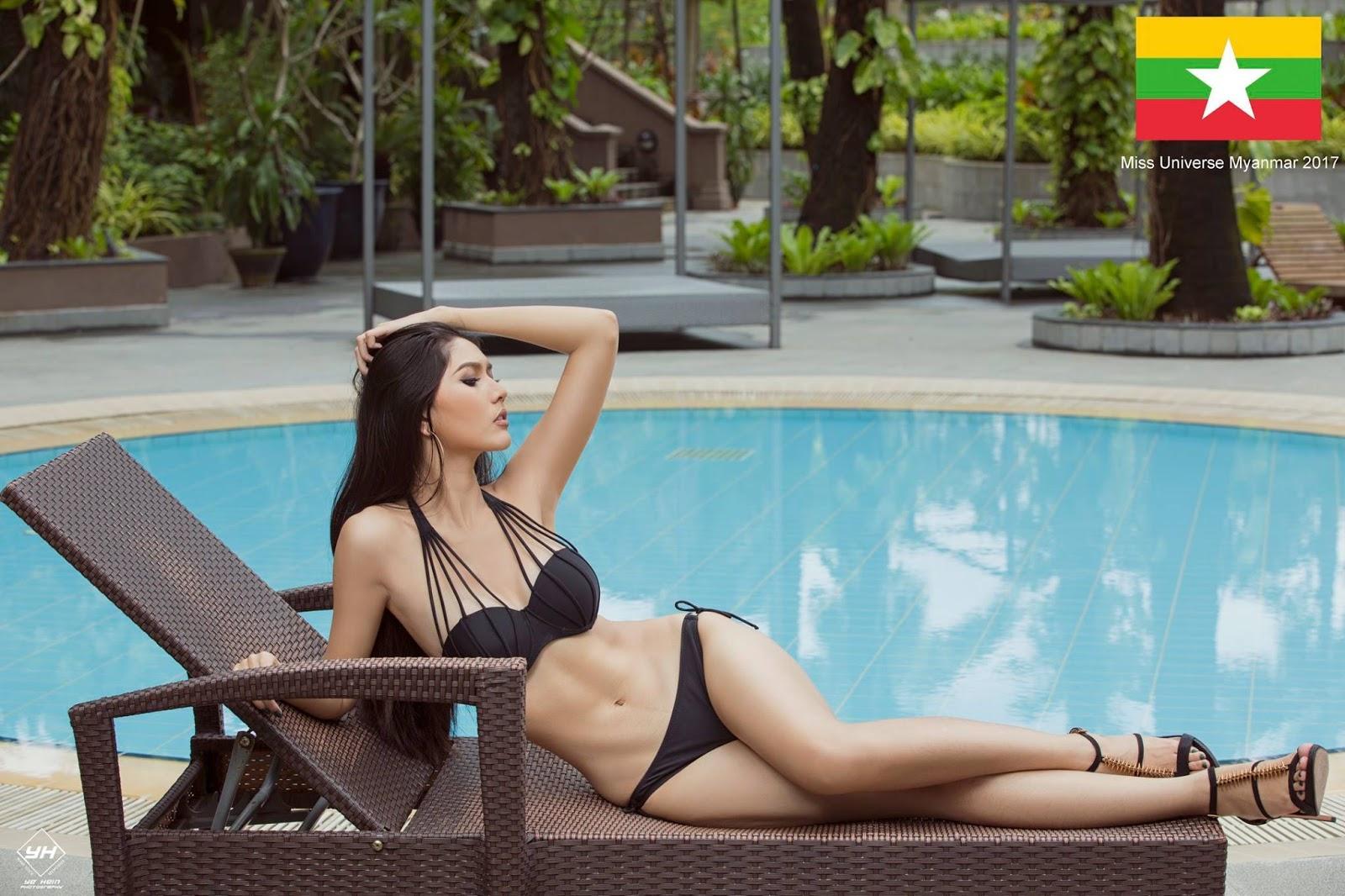 Zun Than Sin - Miss Universe Myanmar 2017 Bikini Pics