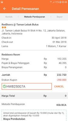 bukti pembayaran booking hotel di pegipegi