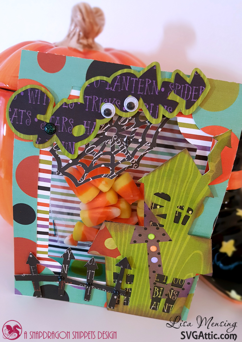 Treat Bags using Tent Cards and Halloween SVG Cut files.