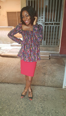 Lifestyle blog, Nigerian blog, Fashion, OOTD, Style, Nigerian, skirt, blouse, ladies wear