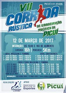 Vem ai a 7ª edição da corrida de emancipação politica de Picuí