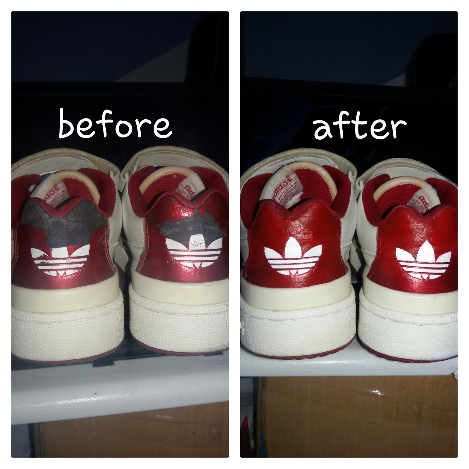Contoh beberapa tas dan sepatu sesudah dan sebelum di recolor