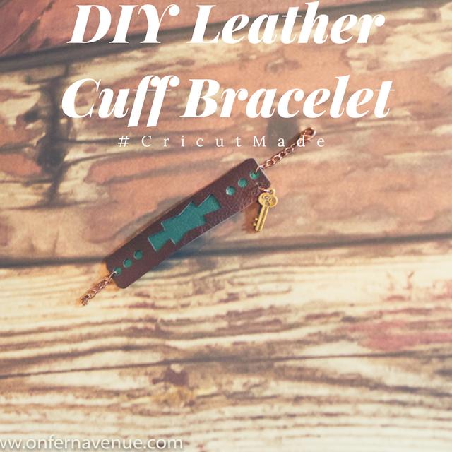 Cricut Explorer Air cutting machine used to make leather cuff bracelet