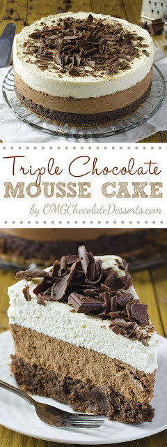 Delicious Triple Chocolate Mousse Cake