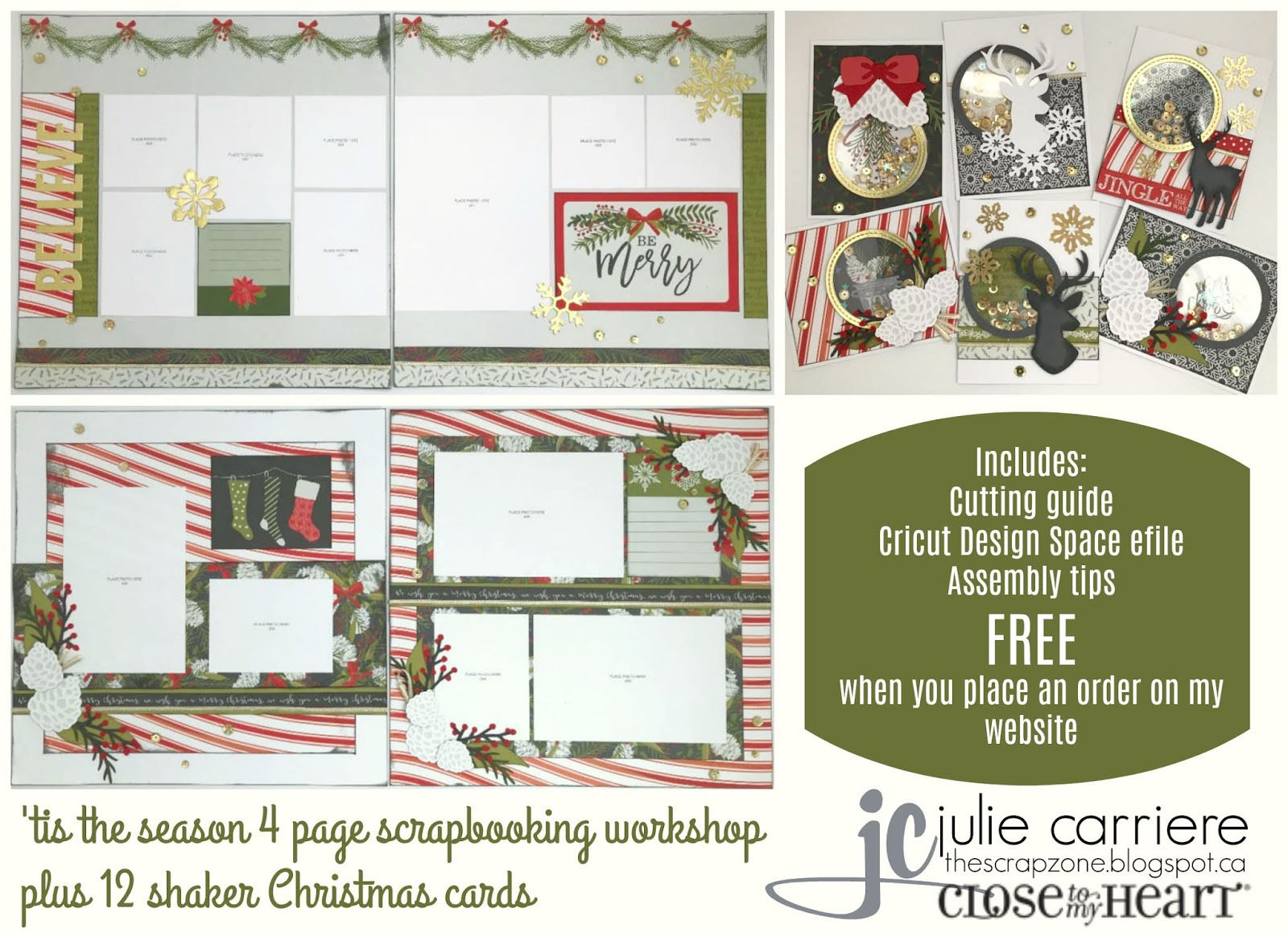 Special Holiday Edition Tis Season For >> The Scrap Zone Tis The Season Shaker Christmas Card Workshop