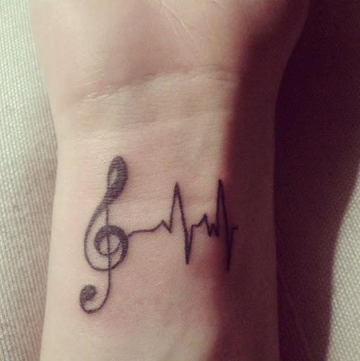 Pulso música tatuagem ideias Esta projetos são um dos melhores desenhos