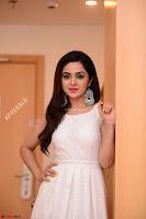 Ragini in Beautiful Cream Sleeveless Gown Perfect makeup ~  Exclusive 002.jpg