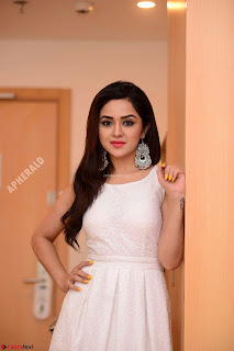 Ragini in Beautiful Cream Sleevelss Gown Perfect makeup ~  Exclusive 002.jpg