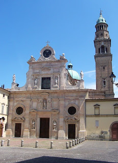 The church of San Giovanni Evangelista in Parma, where Parmigianino did early work