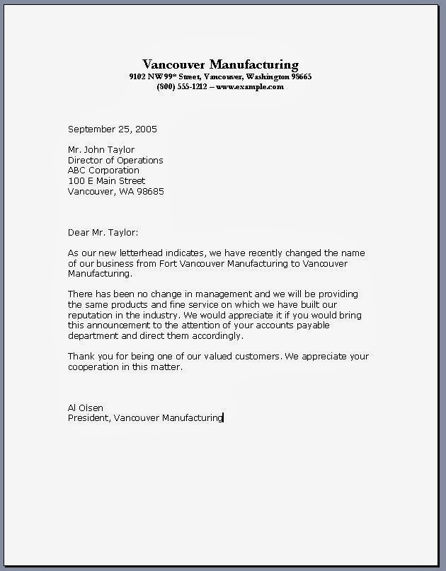 BusinessLetter Template