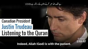Setelah Trump, PM Kanada Khusuk Dengarkan Al quran