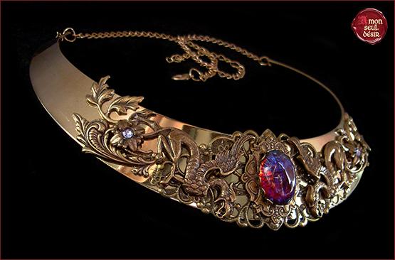 collier griffon medieval fantastique renaissance torque medievale gryffon necklace gryphon jewelry medieval fantasy