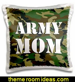 Army Mom Green Camouflage Pillow Case
