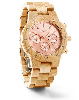 Jord Wooden Watch - Maple adnd rose gold