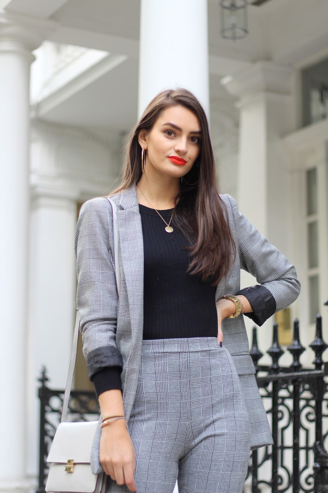 prince of wales check suit peexo personal style blogger