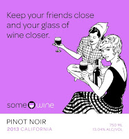 SomeWine Pinot Noir label